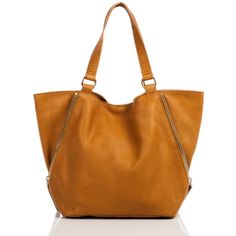 Linea Pelle Alex Zip Tote ($395) ❤ liked on Polyvore featuring bags, handbags, tote bags, purses, scotch, brown tote, zip tote, zippered tote, genuine leather tote and brown purse
