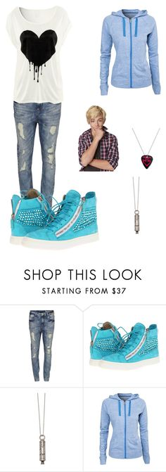 """""""Inspired by Austin from Austin & Ally :)"""" by crazydirectionergirl ❤ liked on Polyvore featuring VILA, Giuseppe Zanotti, Falling Whistles and Under Armour"""