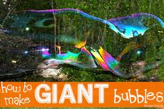 How to make giant bubbles with a secret ingredient - Design Dazzle