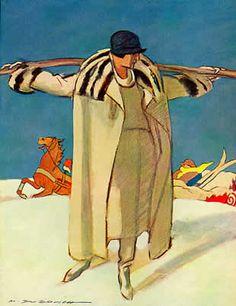 """Anno: 1929 Soggetto: Bozzetto per moda femminile / Sketch for woman's fashion Riferimenti storici: Tavola preparatoria per creazione di modelli """" Marta Palmer """" Provenienza: Archivio MD, Milano / MD Archive, Milan"""