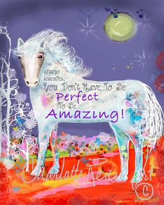 Teenage Room Wall Decor, 8x10 You Don't Have To Be Perfect to be Amazing, Teenage Posters, Cool Prints Teen, teen room ideas, horse roomdeco