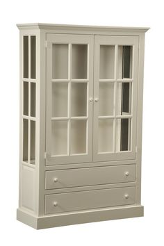 Amish Kitchen Pantry Curio Cape Cod Sideboard China Cabinet Jelly Cupboard White #NewHickoryWholesale #Cottage