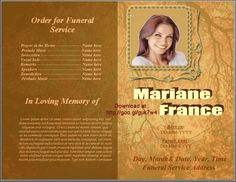 Memorial Service Program Order Of Template Funeral Booklet Layout Natural Background Microsoft Word