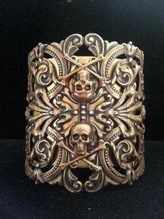 Dawn Santucci Metal di Muse Oxidized Brass Skull by MetaldiMuse