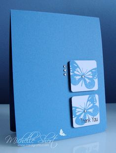 The Card Grotto: Butterfly Thank You