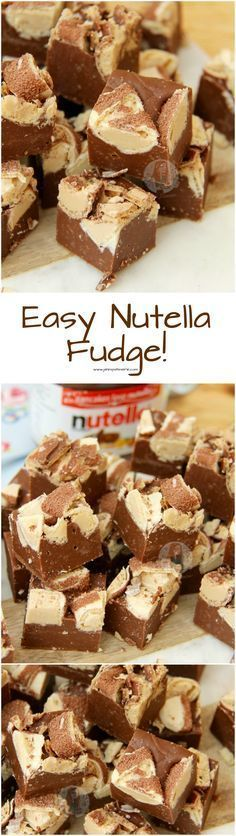 ❤️Chocolate Hazlenut Nutella Fudge – So easy and simp… Easy Nutella Fudge! ❤️Chocolate Hazlenut Nutella Fudge – So easy and simple to make, and so moreish – you will want to make it again and again! Fudge Recipes, Candy Recipes, Chocolate Recipes, Baking Recipes, Sweet Recipes, Dessert Recipes, Nutella Fudge, Nutella Drink, Nutella Chocolate