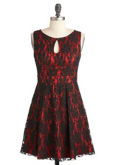NEED this to go with my new red satin heels! Lace Be Friends Dress | Mod Retro Vintage Dresses | ModCloth.com #modcloth #partydress
