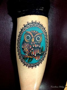 #Teal #Owl #Tattoo