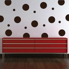 Dots Wall Decals - Make that plain wall really pop with the Even Polka Dot Wall Art Design! Why waste time, money, and energy with painting when the E Polka Dot Walls, Polka Dot Wall Decals, Polka Dots, Modern Wall Decals, Vinyl Wall Decals, Wall Stickers, Wall Art Designs, Vinyl Designs, Wall Design