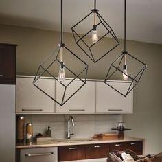 The Cartone 1 Light Pendant Light has a geometric and minimal look. http://www.ylighting.com/blog/introducing-kichler-modern-lighting/