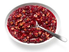 """Almost-Famous Cranberry Walnut Relish Recipe : Food Network Kitchens : Food Network, """"like Boston Market""""! Food Network Recipes, Food Processor Recipes, Cooking Recipes, Cooking Network, Cooking Rice, Cooking Bacon, Cooking Turkey, Relish Recipes, Sauce Recipes"""