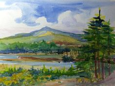 """St. Regis Mountain With Heron Marsh"" by Jacqueline Altman.  Slideshow: New Moon Art Show ""paint-out"" at the Paul Smith's College VIC 