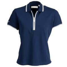 Elaine- lovely ladies golf shirt, available in 3 colours with contrast colour on sleeves and collar