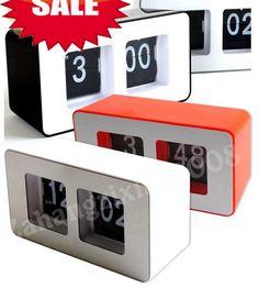 Unique Retro Cube Nice Desk Wall Auto Flip Clock New Design Simple Modern | eBay