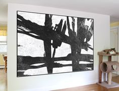 extra large wall art abstract painting on canvas, original canvas Painting, black and white handmade acrylic Painting, home fine art by WorldWallArtShop on Etsy https://www.etsy.com/listing/495765548/extra-large-wall-art-abstract-painting