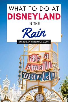 Planning a trip to Disneyland in November, December, January or February? Find out the best things to do when it's raining at Disneyland in my post Disneyland in the Rain Tips | Marcie and the Mouse