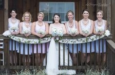 Farm Wedding Bridesmaids Wishing Well Barn www.LeShayne.com LeShayne Maddex Photographer Tampa Bay Wedding Photographer