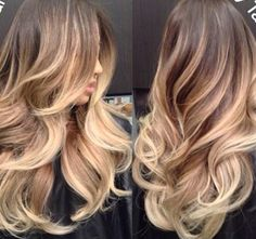 Beautiful, subtle ombre highlights - Long | Hair | Makeup | Hair Color |