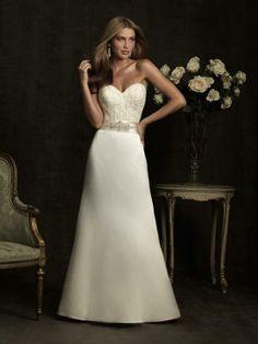 Angela-Vestido de Noiva em cetim - dresseshop.pt