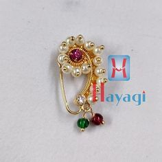 Nath Nose Ring, Nose Ring Jewelry, Nose Stud, Nath Bridal, Bridal Jewelry, Jewellery Making, Gold Jewellery, Nose Ring Online, Indian Nose Ring