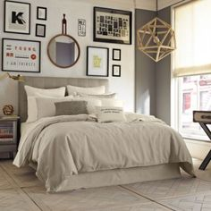 $149.99 from BB&B Kenneth Cole Reaction Home Mineral Linen/Cotton Duvet Cover in Oatmeal - BedBathandBeyond.com