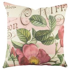Add a pop of style to your sofa or favorite reading nook with this charming cotton pillow, featuring a garden-chic motif. Handcrafted in the USA....