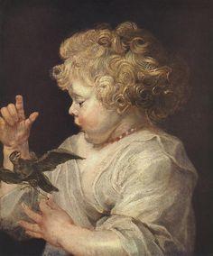 RUBENS, Niño con pájaro (posiblemente su hijo Albert), 1618-1620, Gemäldegalerie, Berlín