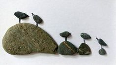 Unframed 5 by 7 bird pebble art anniversary gift birthday