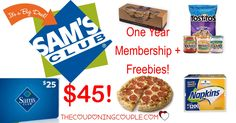 Here's Your Chance! Get a Sam's Club Membership, FREE $25 Sams Club gift card, FREE pizza, FREE bakery cookies, FREE Tostito's, cheap napkins and more! ONLY $45!   Click the link below to get all of the details ► http://www.thecouponingcouple.com/hot-sams-club-membership-deal-as-low-as-25-per-year/ #Coupons #Couponing #CouponCommunity  Visit us at http://www.thecouponingcouple.com for more great posts!