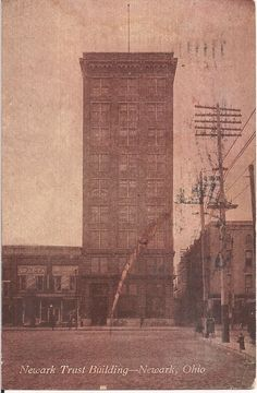 Newark Trust Building--Newark, Ohio. Stamp missing.