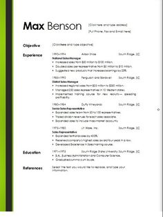downloadable resume templates microsoft word - Words Resume Template