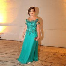 Superbe Hunter mère de robe de mariée avec Sheer Tulle Scoop décolleté a-ligne en mousseline de soie longues Appliques robe pour la mariée mère(China (Mainland))