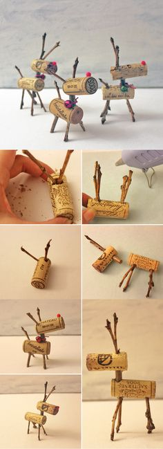 Easy Christmas Decor Ideas: Reindeer Corks | Easy DIY Wine Cork Decor Project by DIY Ready at http://diyready.com/more-wine-cork-crafts-ideas/