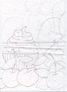 Pintura em tecido country.  Joaninha com cerejas  Convites para aulas de pintura pelo  celular 21- 988754642  e-mail  catiaartesmanuais@gmai...