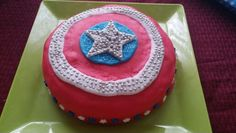 Captain America shield cake