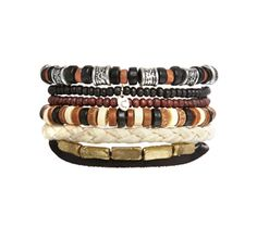 Classics77 Beaded Bracelet Pack. Available at www.asos.com
