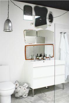 Ikea Godmorgon vanity - http://www.qreate.se/ljus-och-detaljer-i-badrummet/ - photo styling by maliin stoor