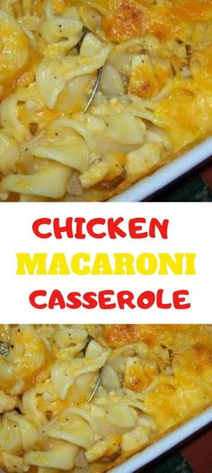 Chicken Macaroni Casserole is quick and easy recipe to make. A yummy, cheesy cas. - Chicken Macaroni Casserole is quick and easy recipe to make. A yummy, cheesy casserole the kids wil - Chicken Macaroni Recipe, Can Chicken Recipes, Macaroni Recipes, Shredded Chicken Recipes, How To Cook Chicken, Cooked Chicken, Chicken Sauce, Recipe With Cream Of Mushroom Soup, Mushroom Soup Recipes