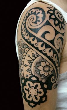 Impressive Polynesian Tattoo for Men