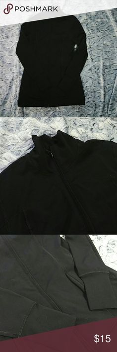 Old Navy zip up athletic jacket Size small Old Navy athletic jacket. Has pockets and thumb holes.  85%polyester, 15%spandex. Like new, only worn once. Old Navy Jackets & Coats
