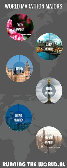 The #WorldMarathonMajors is a series of six of the largest and most renowned Marathons in the world: Tokyo Marathon, Boston Marathon, London Marathon, Berlin Marathon, Chicago Marathon and New York City Marathon.  The organizers of these events are united in their effort to advance the sport, raise awareness of its elite athletes, and increase the level of interest in elite racing among running enthusiasts.