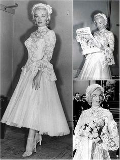 Marilyn Monroe - 1953 - in Gentlemen Prefer Blondes -wedding dress photos Pin Up, Vintage Hollywood, Hollywood Glamour, Marilyn Monroe Wedding, Estilo Marilyn Monroe, Divas, Gentlemen Prefer Blondes, Style Retro, 1950s Style