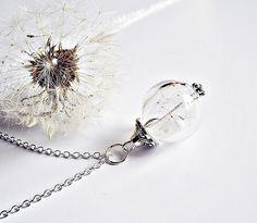 Blütenschmuck - PusteblumenKette Silber 925er - ein Designerstück von flowerring bei DaWanda