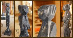 """Martin Künne: """"Wächterin"""", Marmor, Skulptur, Gegenstück zum """"Wächter"""""""