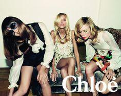 Chloe Campaign SS 2007 - Trish Goff, Anja Rubik and Raquel Zimmermann by Inez and Vinoohd