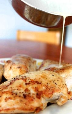 a simple baked chicken breast: one of 31 foods EVERY college student should learn how to make Food Ideas, Easy Food Ideas #food #recipe