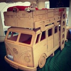 Awesome bunk bed! This would be so much fun for kids and fun to paint and draw on