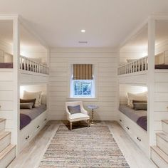 Best Bunk Beds for Kids And Teens with Storage Design Ideas This bunk bedroom with character grade white oak floors make for a perfect night in Queen Bunk Beds, Bunk Bed Rooms, Bunk Beds Built In, Bunk Beds With Stairs, Cool Bunk Beds, Kids Bunk Beds, Bedrooms, White Bunk Beds, Built In Beds For Kids