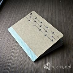 Here is a quick tutorial on how to make your own little notebook. You will need: Card stock (I used a cereal box - of probably t...