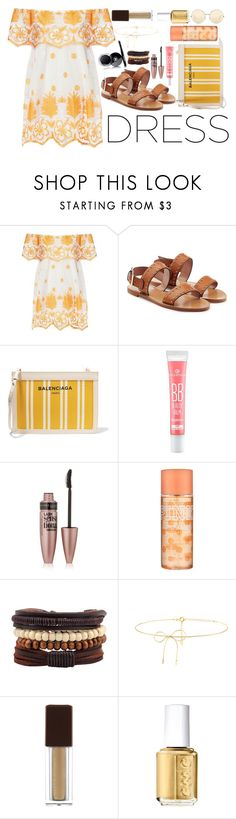 """Summer Day #3"" by xxmonnyxx on Polyvore featuring Miguelina, RED Valentino, Balenciaga, Chanel, Maybelline, Victoria's Secret, Lilou, Kevyn Aucoin, Essie and Victoria Beckham"